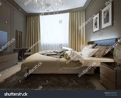 Modern Style Bedroom Bedroom Interior Modern Style 3d Images Stock Illustration