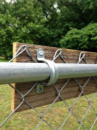 adding lattice for privacy to a chain link fence using zip ties