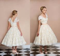 50 s wedding dresses 2017 50s style retro vintage wedding dresses lace a line v