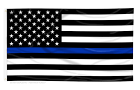 Usa Flag Vector Thin Blue Line American Flag 4 Ft X 6 Ft Polyester Walmart Com