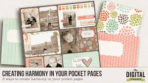 pocket pages creating harmony in your pocket pages the digital press