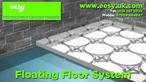 underfloor heating floating floor system