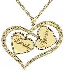 customizable jewelry alison couples interlocking heart necklace w names