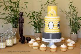 chevron inspired safari themed baby shower jessica harris cake