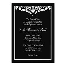 formal invitation prom formal invitations announcements zazzle