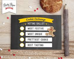 holiday cookie exchange voting ballots instant download