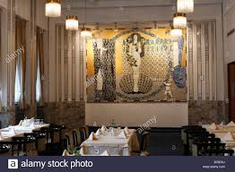 grand café in grand hotel wiesler with an art nouveau mosaic graz