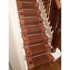 Stair Runner Rugs Stair Traditional Stair Design With Anti Slip Cream Runner Carpet