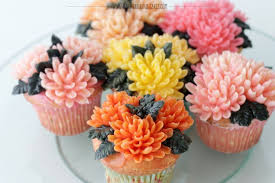 Flower Cakes Buttercream Chrysanthemum Flowers Cupcakes