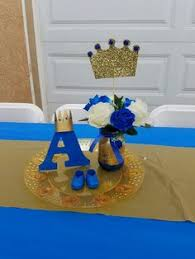 prince themed baby shower centerpieces baby shower royal theme prince party ideas