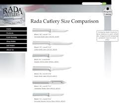 rada u0027s helpful cutlery comparison tool knife size chart rada blog