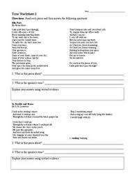 tone worksheet 1 6th 9th grade worksheet lesson planet