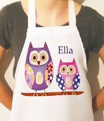 girls personalised aprons kids apron personalised apron for kids