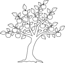 apple tree color me motifs apples