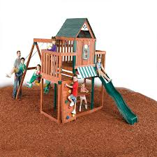 Lowes Swing Set Shop Swing N Slide Winchester Complete Ready To Assemble Kit Wood
