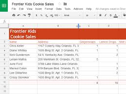 google sheets modifying columns rows and cells full page