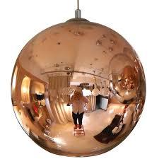 tom dixon copper color glass mirror ball pendant lamp m9029 dia25