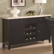 server sideboard marble top with wine rack in dark cappuccino