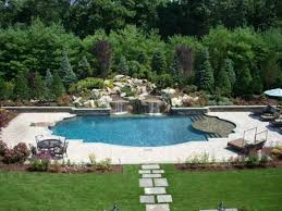 swimming pool landscaping designs landscaping ideas nj custom pool