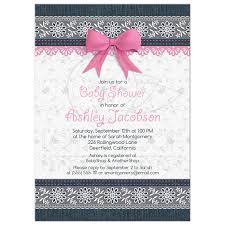 girl baby shower invitations lace denim baby shower invitation pink baby girl
