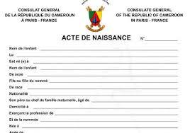bureau de l 騁at civil cameroun l état réhabilite système d état civil le bureau