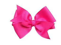 pink hair bow 4 inch hot pink hair bow hot pink bow by browneyedbowtique clip