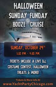 halloween event in chicago yacht party chicago u0027s halloween sunday funday booze cruise