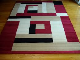 Area Rugs Modern Design Modern Beige White Black Design 5x8 Area Rug Carpet New