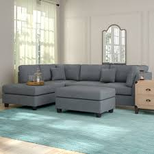 Sofa Sectional With Chaise Gray Sectional You Ll Wayfair
