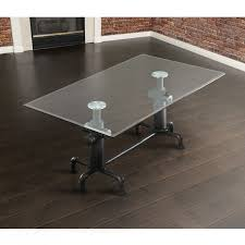industrial glass dining table furniture of america haymill industrial antique black glass top