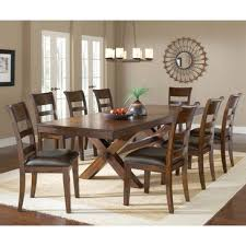 trestle dining table set hillsdale park avenue 9 piece trestle dining room set in dark cherry