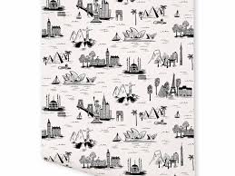 Rifle Paper Company Wallpaper City Toile White Wallpapers By Rifle Paper Co Desktop Background