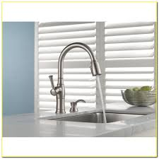 iron delta savile stainless 1 handle pull down kitchen faucet wall