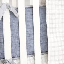 Denim Curtain Stuart U0027s Denim U0026 Silver Baby Bedding Caden Lane