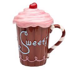 novelty coffee mugs frosted cupcake ceramic mug with lid novelty coffee mugs