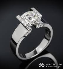 tension engagement rings whiteflash tension set solitaire engagement ring