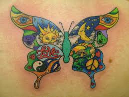 this butterfly is based on a hippy doodle and includes
