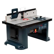 table bosch 15 amp corded 27 in x 18 in aluminum top benchtop router