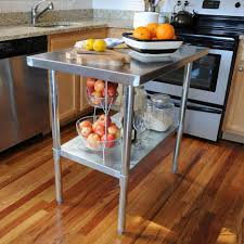 Kitchen Utility Table by Kitchen Stainless Steel Kitchen Table Intended For Amazing