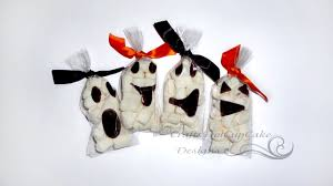 Halloween Candy Bags Craft by 4 Halloween Crafts Series 2012 Ghost Face Marshmallow Treat Bags