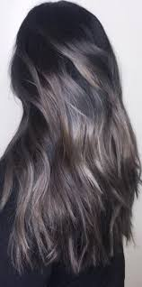 45 silver hair color ideas for grey hairstyles dark brunette