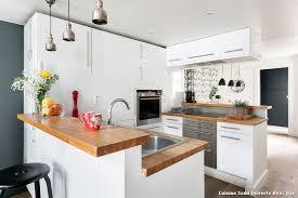 cuisine en l avec bar salon salle manger cuisine ouverte photos de design d intérieur et