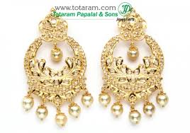 chandbali earrings chandbali earrings 22k gold diamond drop earrings with