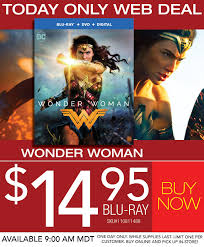 wonder woman blu ray for 14 95 red tag clearance rc willey