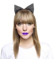 beaded headband beaded cat ears headband meowingtons