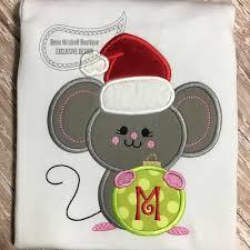 christmas applique christmas mouse applique beau mitchell boutique