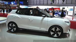ssangyong ssangyong tivoli evr concept displayed at seoul motor show