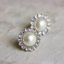 bridesmaid pearl earrings pearl earrings bridesmaid earrings ivory pearl earrings wedding