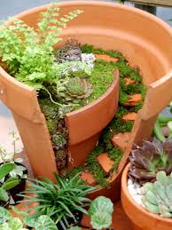 terracotta pots fairy houses amber created a cute miniature with
