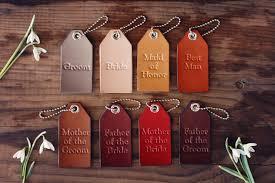 luggage tag wedding favors 8 wedding favors custom leather luggage tags keychain